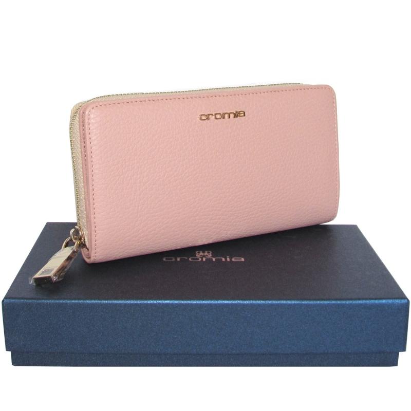d91a59bea1 CROMIA portafoglio donna in pelle rosa Made in Italy. Marchio: CROMIA