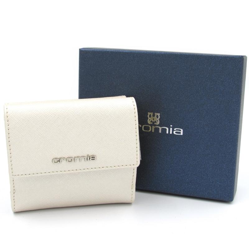 28ae6921da CROMIA portafoglio piccolo con portamonete in pelle perla Made in Italy