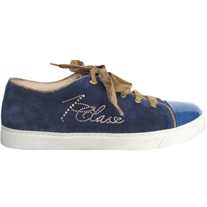 Italy Camoscio 1a Alviero In Blu Made Martini Sneakers Сlasse Donna 8nwvmN0O