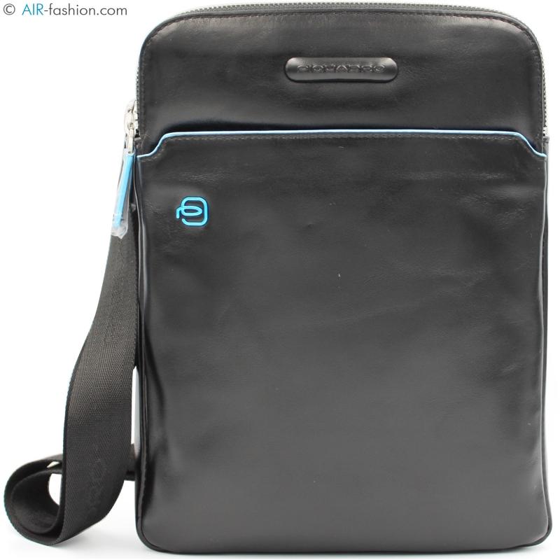 a3b5677d41 Piquadro borsa a tracolla da uomo porta iPad in pelle nera lucida