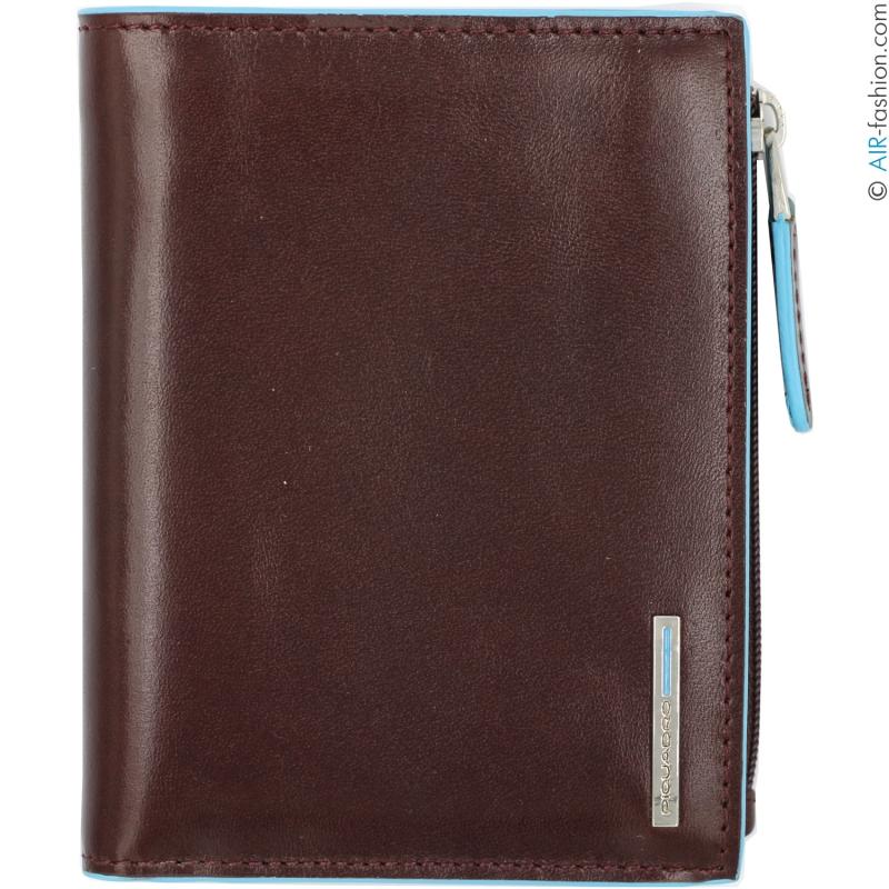 migliori scarpe da ginnastica c8f4a 11cd2 PIQUADRO men's vertical wallet of brown leather with RFID ...