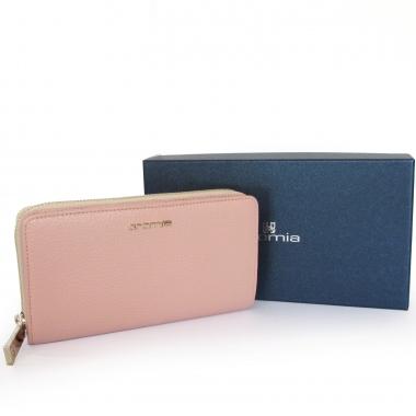 autentico e3243 8449f CROMIA portafoglio donna in pelle rosa Made in Italy