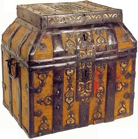 7bf6d8c8b6 In alternativa vi era lo scrigno poggiatesta, una piccola cassetta per le  monete con un coperchio inclinato. Si trattava di un accessorio  irrinunciabile ...